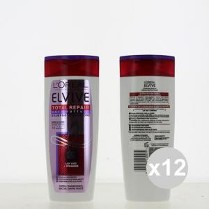 Set 12 ELVIVE Shampoo 250 Total Repair 5 Antirottura Shampoo E Balsamo