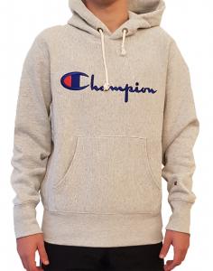 Felpa con cappuccio e logo Champion