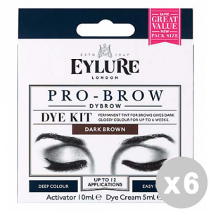 EYLURE Set 6 EYLURE Pro-brow brown tinta permanente sopracciglia