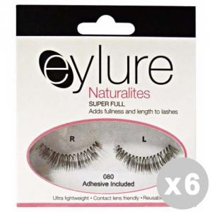 EYLURE Set 6 EYLURE Ciglia finte 80 lunghezza naturalities - trucco/make up