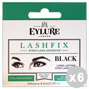 EYLURE Set 6 EYLURE Ciglia a nastro nero colla lashfix - trucco/make up