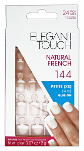 ELEGANT TOUCH Unghie finte 144 natural french petite bare