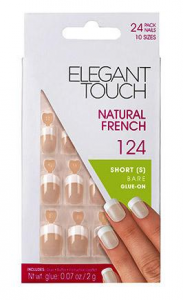 ELEGANT TOUCH Unghie finte 124 natural french short bare