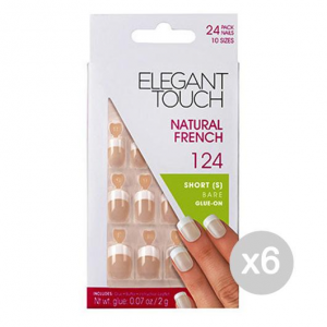 ELEGANT TOUCH Set 6 ELEGANT TOUCH Unghie finte 124 natural french short bare