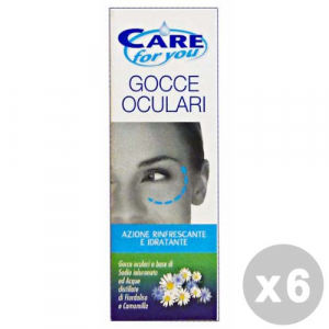 Set 6 CARE FOR YOU Gocce Oculari 10 Ml. Disinfettanti e igienizzanti