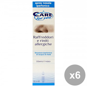 Set 6 CARE FOR YOU Soluzione RafFreddore-Rinite Allergica 125 Ml. Disinfettanti e igienizzanti