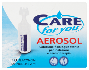 CARE FOR YOU Naso Aerosol Flaconcini Monodose 10 Pezzi Prodotto Parafarmacia