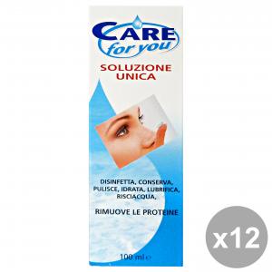 Set 12 CARE FOR YOU Soluzione Unica Lenti A Contatto 100 Ml. Disinfettanti e igienizzanti