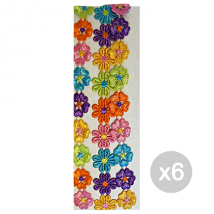 Set 6 CLERYFFA Elastici F9577 Fascetta Fiori Multicolor Accessorio Per Capelli