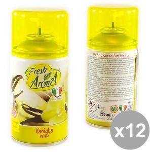 Set 12 FRESH Aroma Ric.Spray 250 Vaniglia Deodoranti per la casa