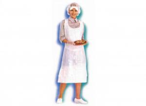 100 pezzi ICO Grembiule c/pettorina polietilene bianco Uomo: abbigliamento lavoro