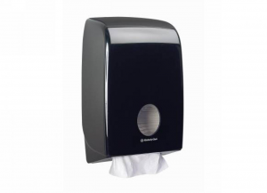 KIMBERLY-CLARK Distributore aquarius asciugamani intercalati nero 1 pezzo Bagno: accessori e tessuti