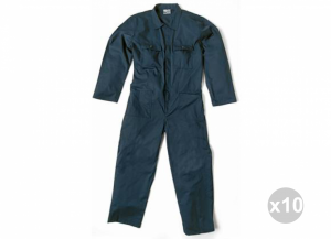 Set 10 SIGGI Tuta master massaua sanfor blu 100% cotone tg. 44 Abbigliamento lavoro uomo
