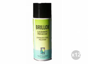 Set 12 FARMICOL Brillox lucidante spray acciaio ml. 400 Detergenti per la casa