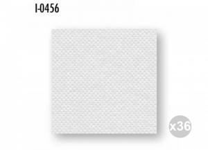Set 36x40 (1440 pz totali) CELTEX Tovaglioli 38x38 carta 2 veli bianco tramato/mic. incollato