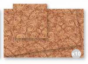 'Set 10x20 (200 pz totali) CELTEX Coprimacchia trend ''bouquet'' cacao 100x100 Cucina: stoviglie e accessori'