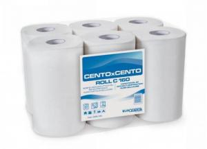 6 pezzi CARTINDUSTRIA EUROCARTA Asciugamani rotolo microincollato 2 veli h. 20/150