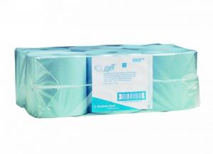 6 pezzi KIMBERLY-CLARK Asciugamani rotolo airflex blu 1 v. Bagno: accessori e tessuti