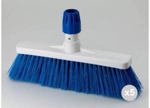 'Set 5 ARISTON Scopa pavimenti blu cm. 35 ''hygiene'' Detergenti per la casa'