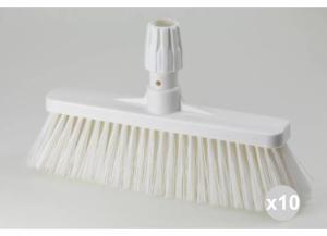 'Set 10 ARISTON Scopa pavimenti bianca cm. 35 ''hygiene'' Detergenti per la casa'