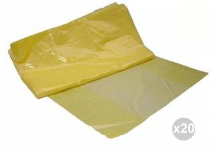 Set 20x15 (300 pz totali) DE.MI.COM Sacco cx giallo semicoprente 70x70 gr. 33 mic.35