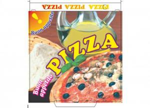 100 pezzi CODECART Box pizza vegetale 34,5x34,5x3 Cucina: stoviglie e accessori