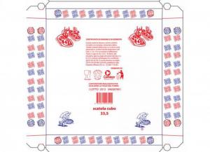 '100 pezzi CODECART Cubo pizza vegetale ''pizza pizza'' 32,5x32,5 Cucina: stoviglie e accessori'