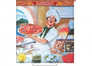 100 pezzi CODECART Box pizza vegetale 32,5x32,5x3 Cucina: stoviglie e accessori