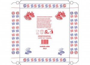 100 pezzi CODECART Cubo pizza semichimico 32,5x32,5 Cucina: stoviglie e accessori