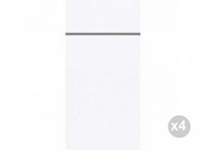 Set 4x50 (200 pz totali) DUNI Letto 40x48 cm bianco Casa e cucina