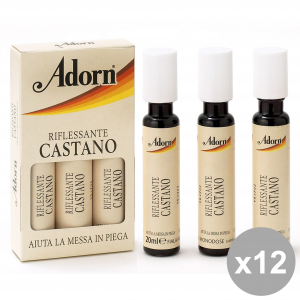 ADORN Set  12  Fiale Castano X 3 Pezzi  Prodotti Per Capelli