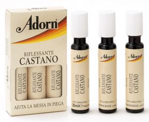 ADORN Fiale Castano X 3 Pezzi  - Fiale Per Capelli