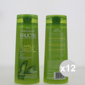 Set 12 FRUCTIS Shampoo 250 2In1 Capelli Secchi Shampoo E Balsamo Prodotti per capelli