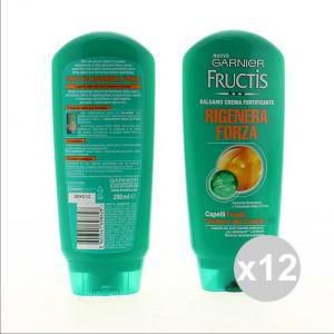 Set 12 FRUCTIS Balsamo 200 Rigenera Forza Shampoo E Balsamo Prodotti per capelli