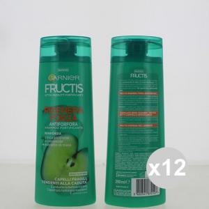 Set 12 FRUCTIS Shampoo 250 Antiforfora Rigenera Forza Shampoo E Balsamo