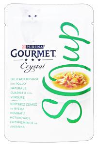 GOURMET Crystal Soup Busta Pollo/Verdure 40 Gr Cibo Per Gatti