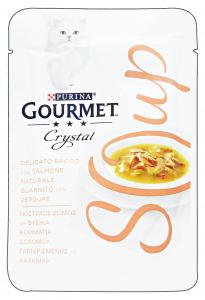 GOURMET Crystal Soup Busta Salmone/Verdure 40 Gr Cibo Per Gatti