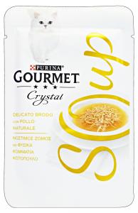 GOURMET Crystal Soup Busta Pollo 40 Gr Cibo Per Gatti