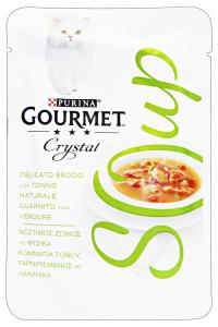 GOURMET Crystal Soup Busta Tonno/Verdure 40 Gr Cibo Per Gatti