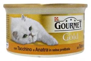 GOURMET Gold Lattine Salsa Tacchino/Anatra 85 Gr Cibo Per Gatti