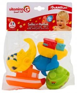 GLOBO Animali gommolosi pesci/barche *5 pz. - giocattoli