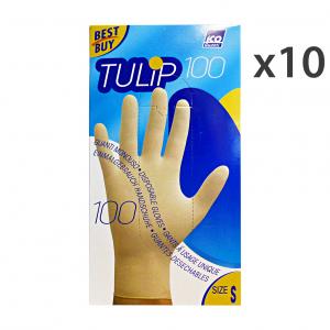 ICO GUANTI Set 10 Guanti X 100 Lattice S Giardinaggio