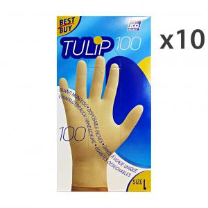 ICO GUANTI Set 10 Guanti X 100 Lattice L Giardinaggio