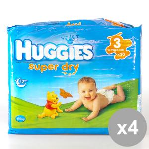 Set 4 HUGGIES Superdry Midi 30Pz 4-9Kg Prodotti per bambini