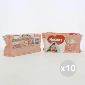 Set 10 HUGGIES Salviette 56 Pezzi Soft Skin Pannolini Infanzia E Neonati