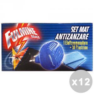 FULMINE Set 12 FULMINE Zanzare elettrico base +10 piastrine - insetticidi e repellenti