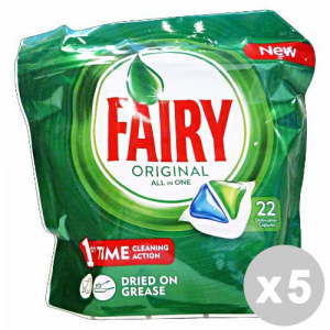 FAIRY Set 5 FAIRY Caps lavastoviglie 22 all in one original