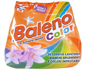BALENO Lavatrice Polvere 18 Mis. Colorati 1,26 KG. Detergenti Casa