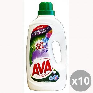 Set 10 AVA Lavatrice Liquido 20 Mis. COLOR Gel Detergenti casa