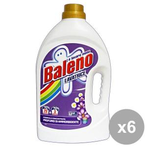 Set 6 BALENO Lavatrice Liquido 25+3 Mis. Con Ammorbidente Detergenti casa
